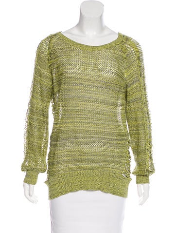 Iro Long Sleeve Open Knit Sweater None