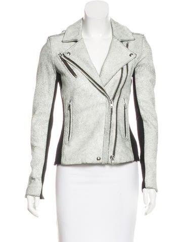 Iro Leather Moto Jacket None