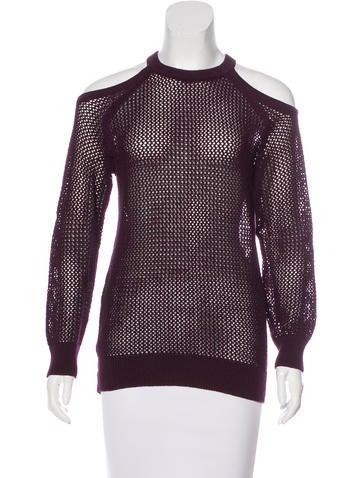 Iro Knit Cold-Shoulder Sweater None
