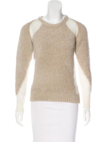 Iro Open Knit-Accented Wool Sweater None