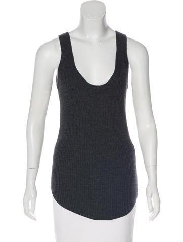 Iro Sleeveless Wool Knit Top None