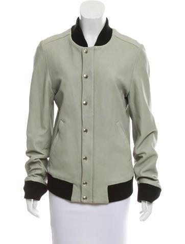 Iro Cruz Leather Jacket None