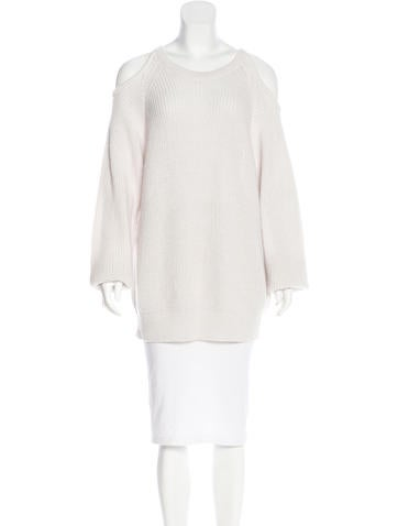 Iro Cold-Shoulder Long Sleeve Sweater None