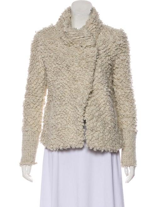 Iro Shearling Knit Jacket white