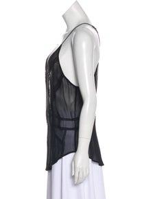 Iro Embroidered Sleeveless Top