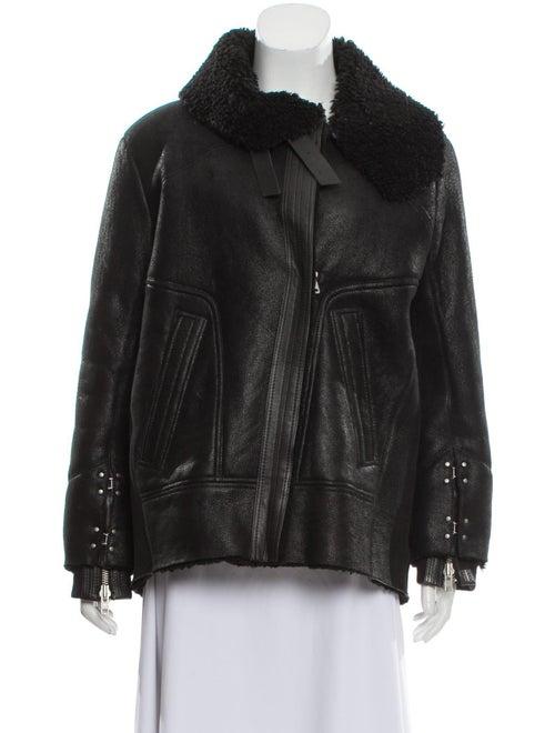 Iro Jenny Shearling Jacket Black