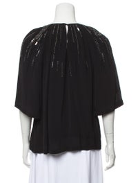Scoop Neck Three-Quarter Sleeve Blouse image 3