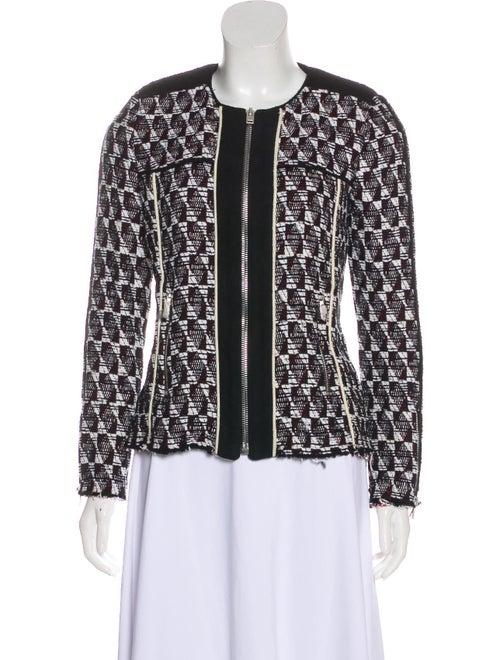 Iro Collarless Knit Blazer Black