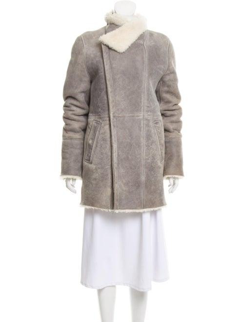 Iro Shearling Fur Jacket Grey