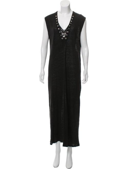 Iro Daisy Linen Dress Black