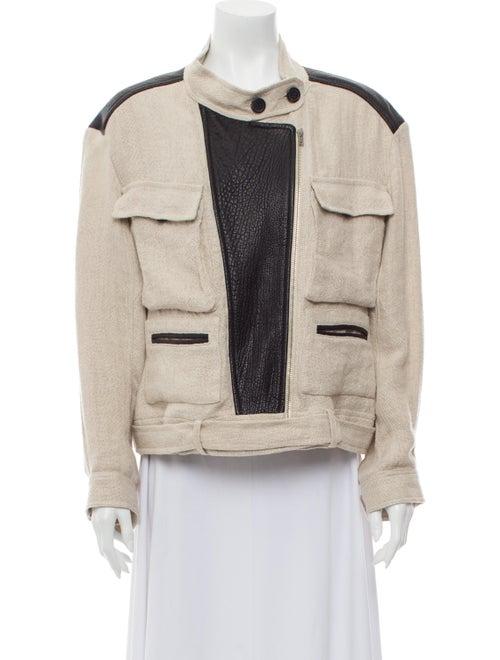 Iro Linen Tweed Pattern Jacket Black