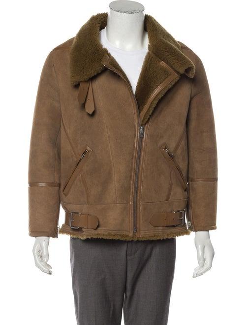 Iro Shearling Jacket brown