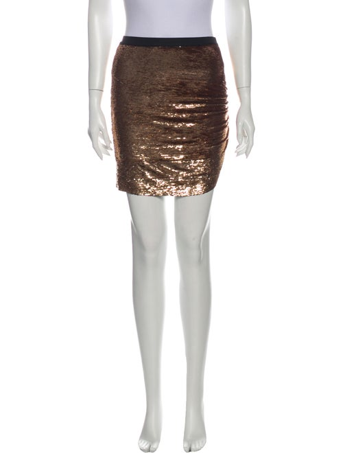 Iro Sequin Embellishments Mini Skirt Metallic