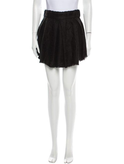 Iro Linen Mini Skirt Black