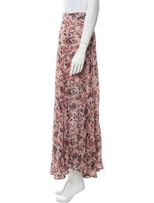 Iro Floral Print Midi Length Skirt