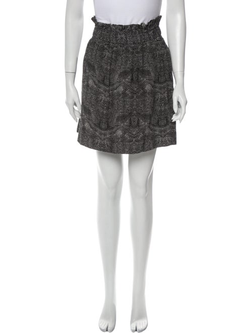 Iro Silk Mini Skirt Grey