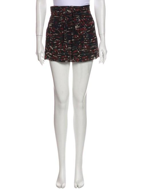Iro Printed Mini Skirt Black