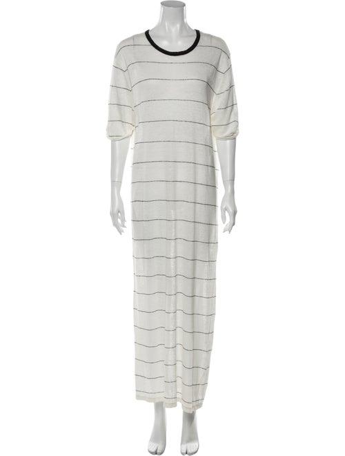 Iro Linen Long Dress White