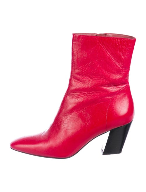 Iro Leather Boots Red