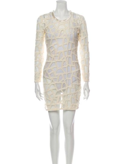 Iro Lace Pattern Mini Dress - image 1