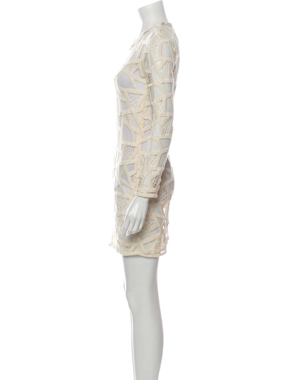 Iro Lace Pattern Mini Dress - image 2