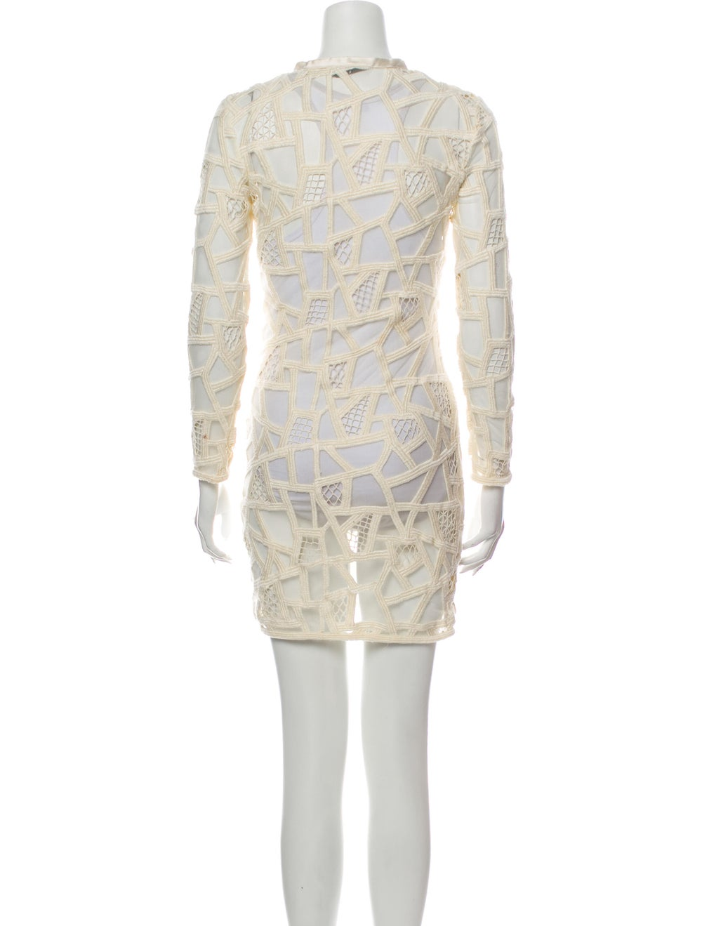 Iro Lace Pattern Mini Dress - image 3