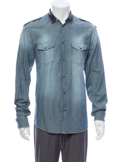 Iro Long Sleeve Denim Shirt Denim
