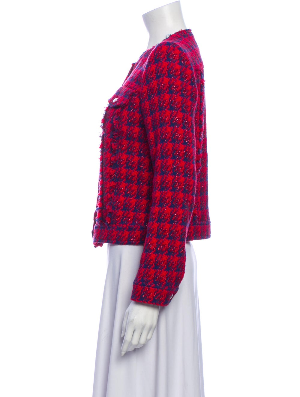 Iro Tweed Pattern Jacket - image 2