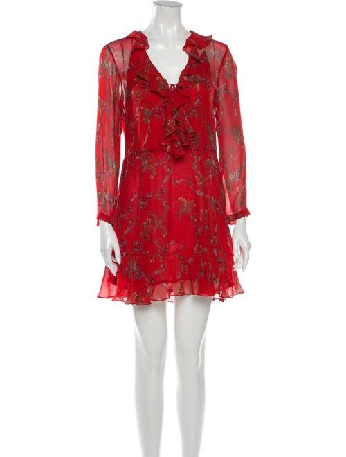 Iro Floral Print Mini Dress Red