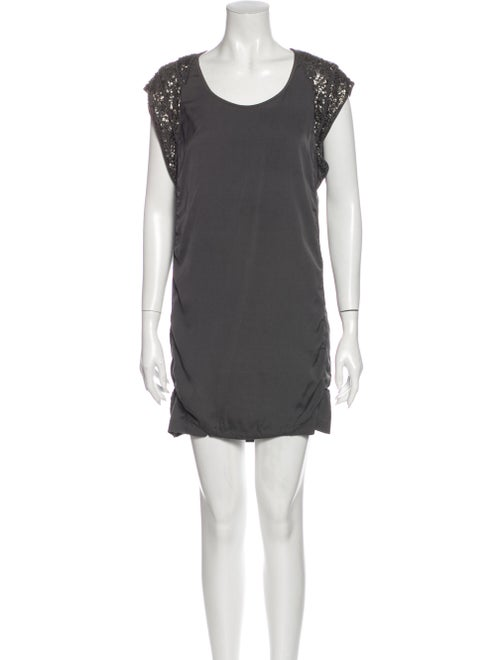 Iro Silk Mini Dress Grey
