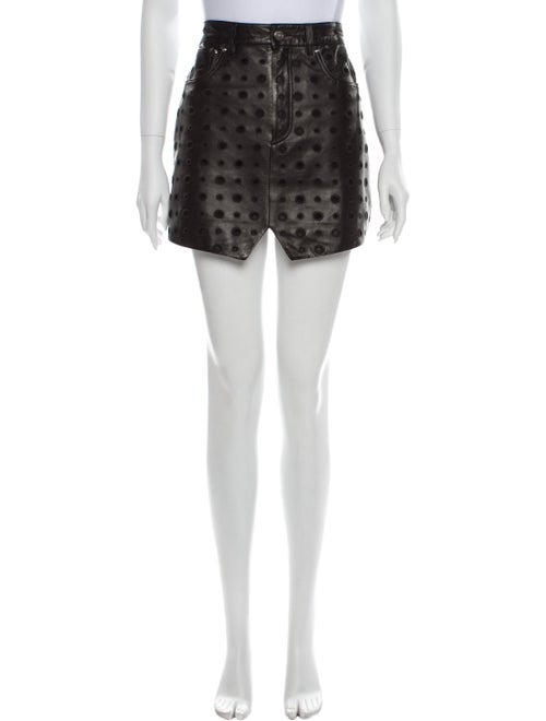 Iro Lamb Leather Mini Skirt Black