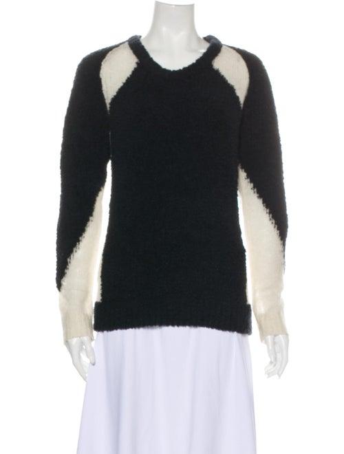 Iro Wool Colorblock Pattern Sweater Wool