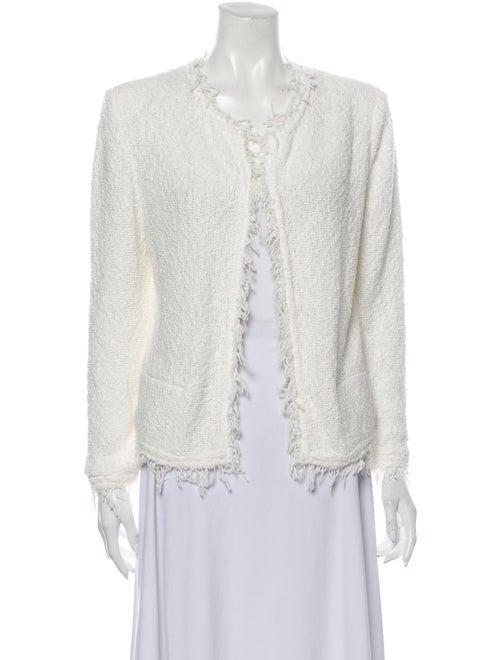 Iro Lace Pattern V-Neck Blouse White