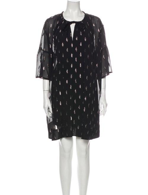 Iro Silk Mini Dress Black