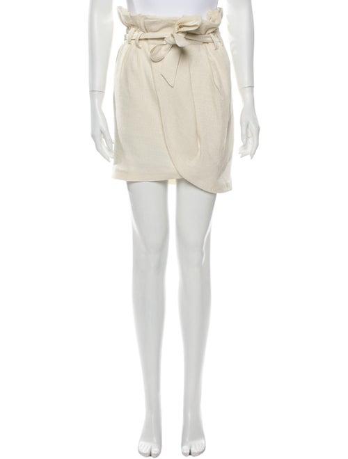Iro Linen Mini Skirt White