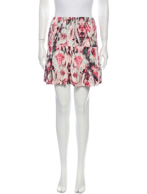 Iro Printed Mini Skirt Pink
