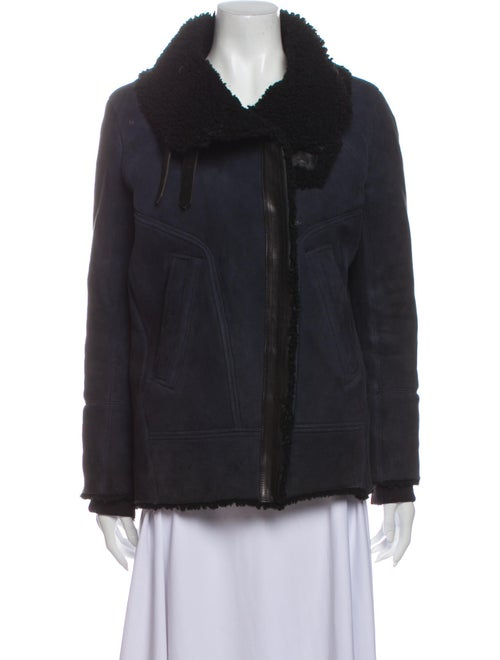 Iro Shearling Jacket Blue