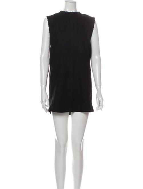 Iro Suede Mini Dress Black