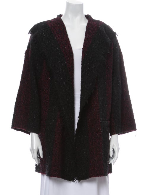 Iro Striped Coat Black
