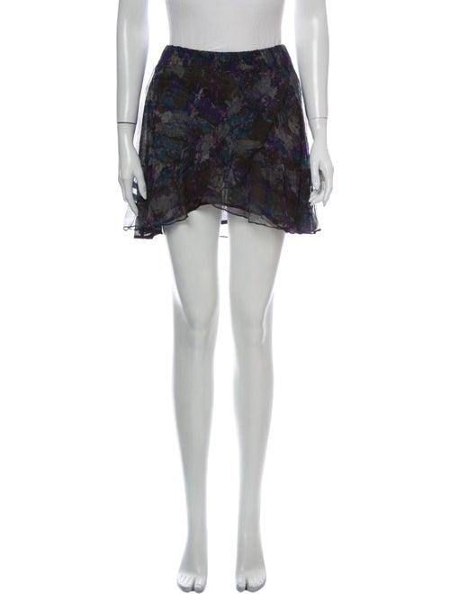 Iro Printed Mini Skirt Blue