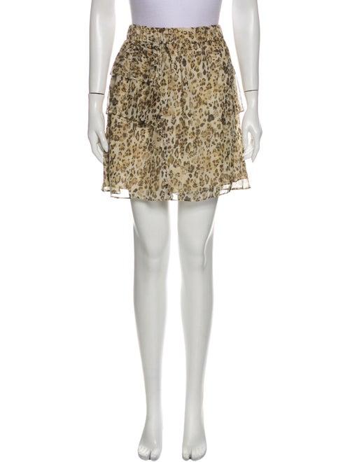 Iro Silk Mini Skirt Brown
