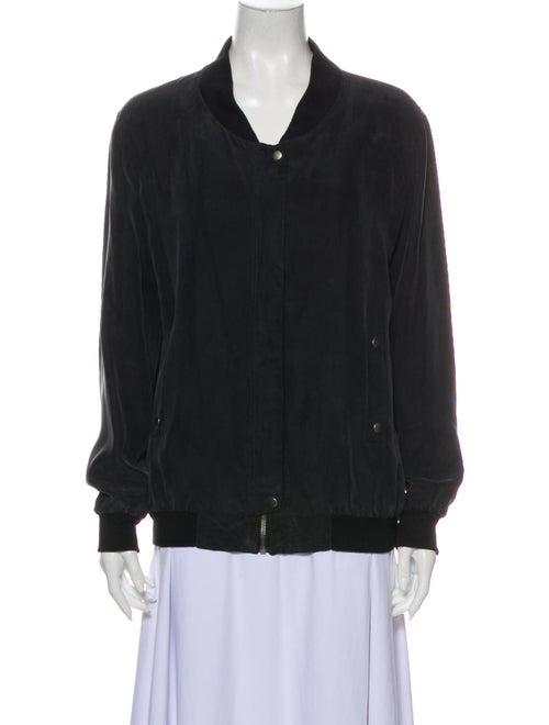 Iro Silk Bomber Jacket Black