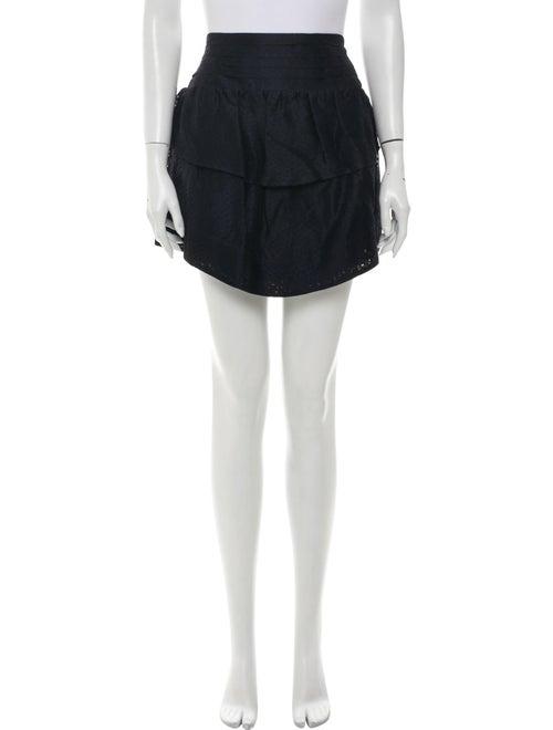 Iro Silk Mini Skirt Blue