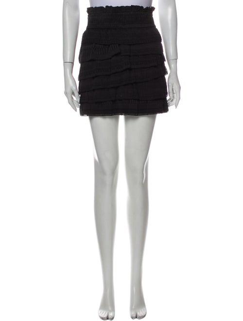 Iro Silk Mini Skirt Black