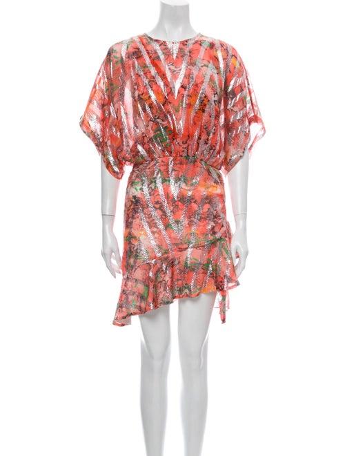 Iro Silk Mini Dress Orange