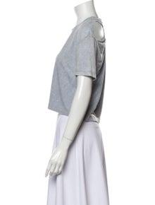 Iro Crew Neck Short Sleeve Crop Top