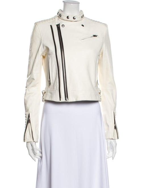 Iro Lamb Leather Biker Jacket White