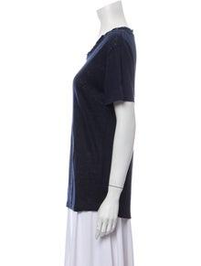 Iro Linen Scoop Neck T-Shirt