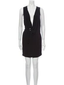 Iro V-Neck Mini Dress
