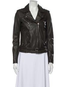 Iro Lamb Leather Biker Jacket